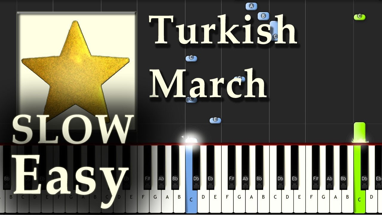 turkish march piano tutorial slow