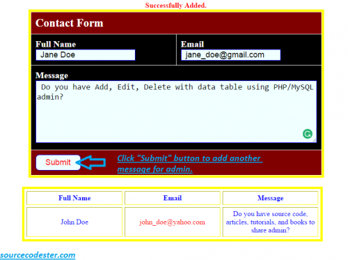 php web form tutorial