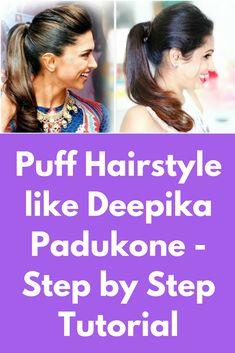 deepika padukone bun hairstyle tutorial