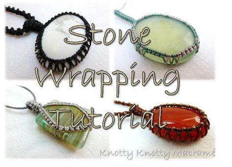 macrame stone wrap tutorial