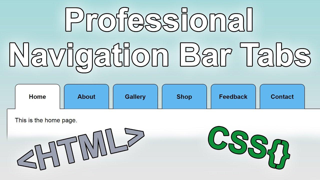 css navigation bar tutorial