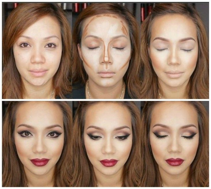 simple makeup tutorial for round face