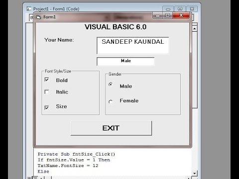 vb 6.0 tutorial with examples