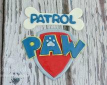 paw patrol bone cake tutorial