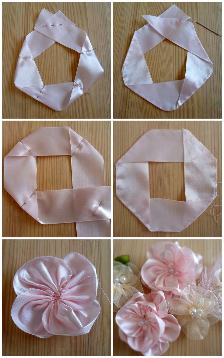 fabric flower making tutorial
