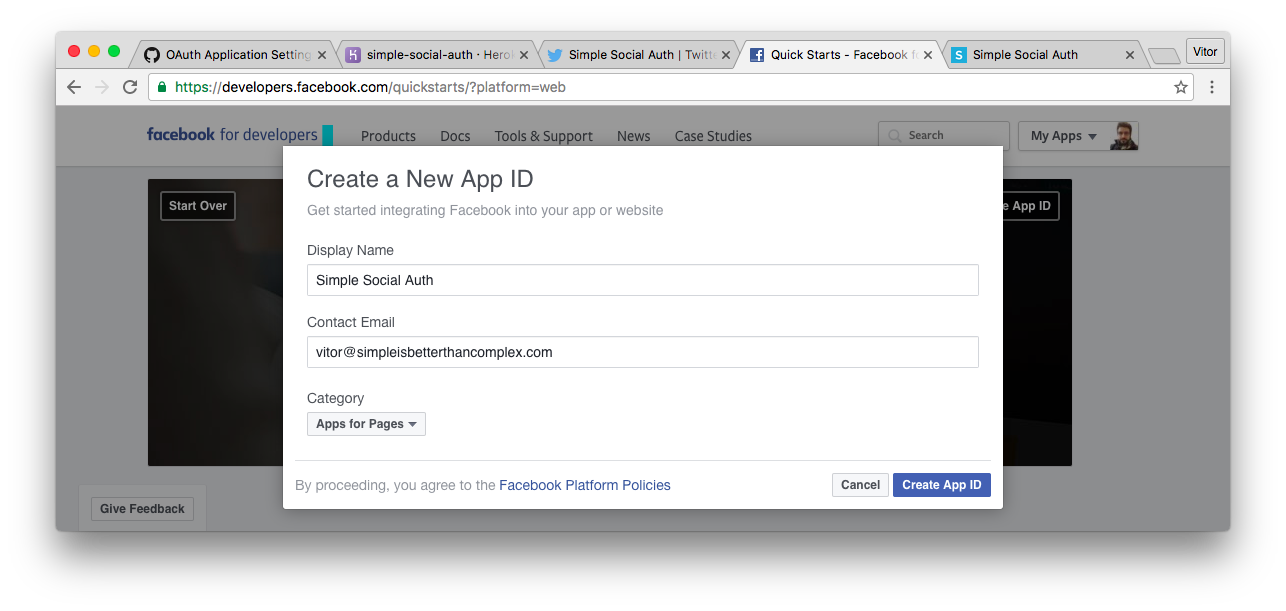 facebook app development tutorial 2016