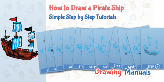 pirate ship drawing tutorial