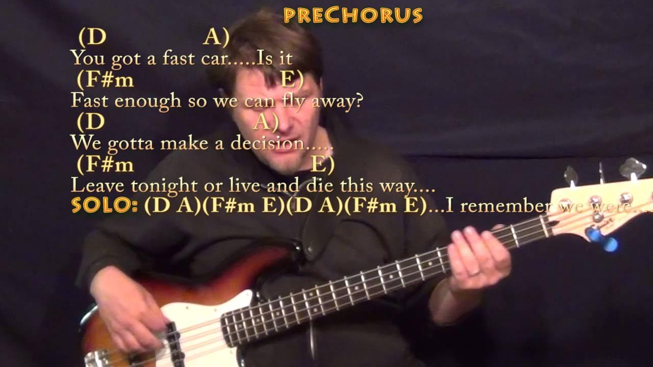 fast car guitar tutorial
