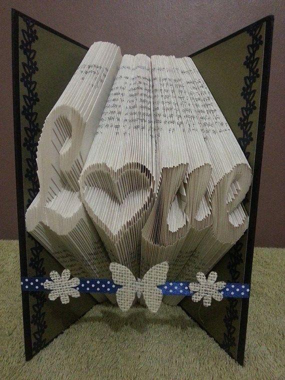 book folding art love tutorial