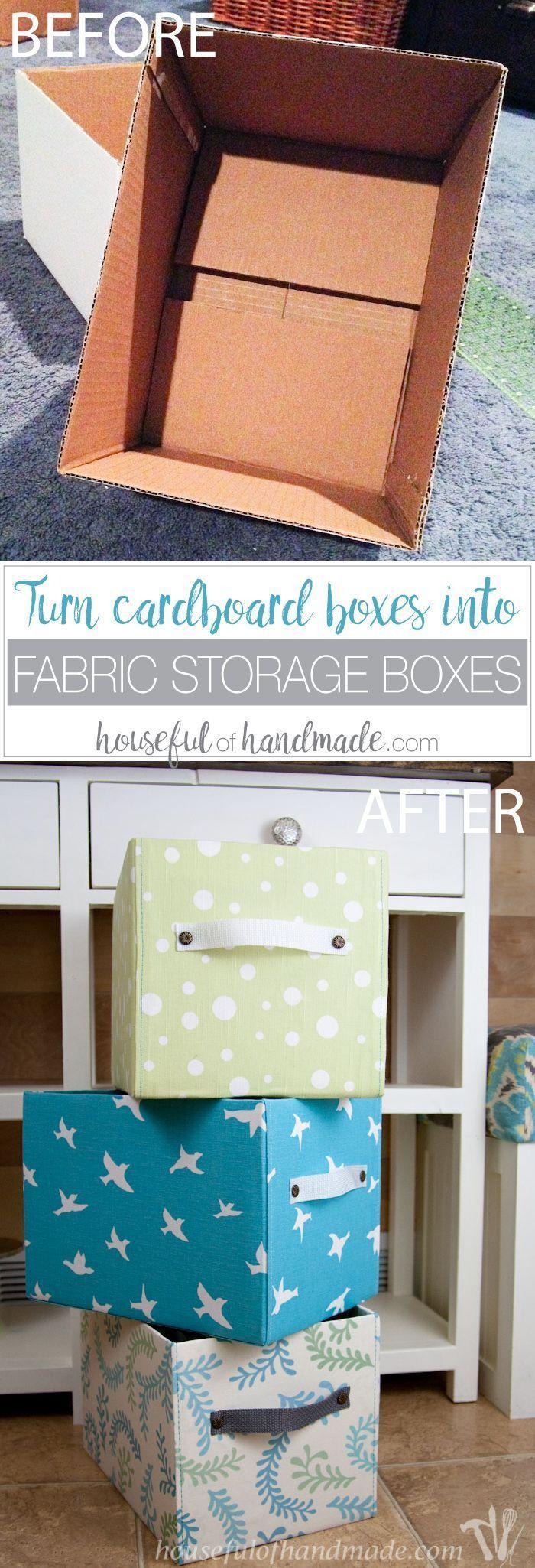 fabric storage bin tutorial