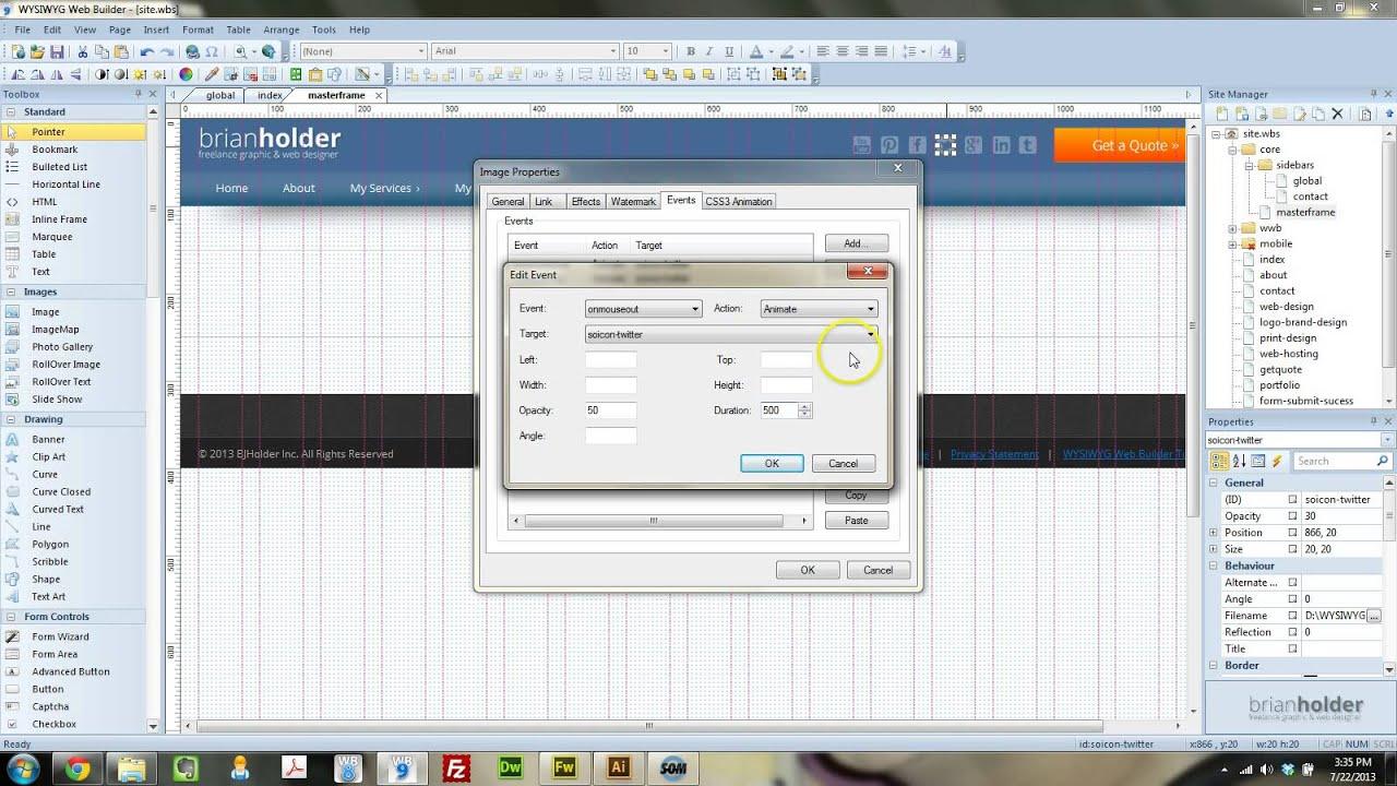 wysiwyg web builder tutorial pdf