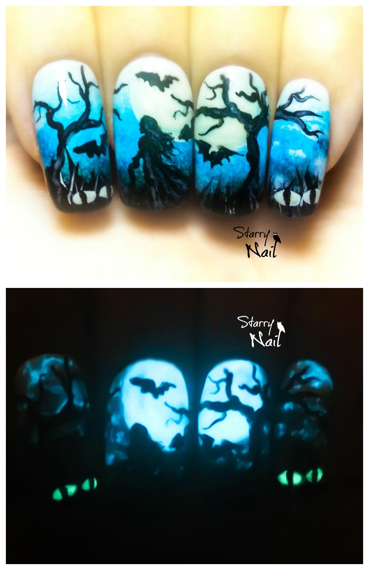 glow in the dark painting tutorial