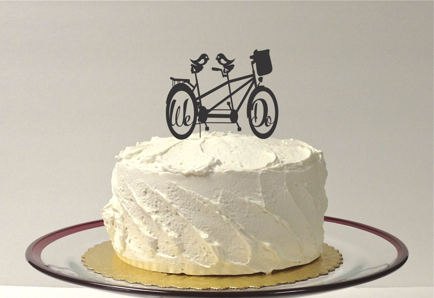 bicycle cake topper tutorial