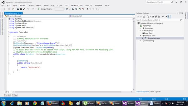 visual studio 2012 for web tutorial