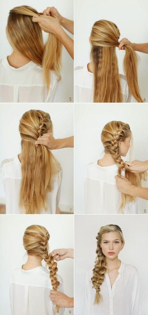 side braid tutorial short hair