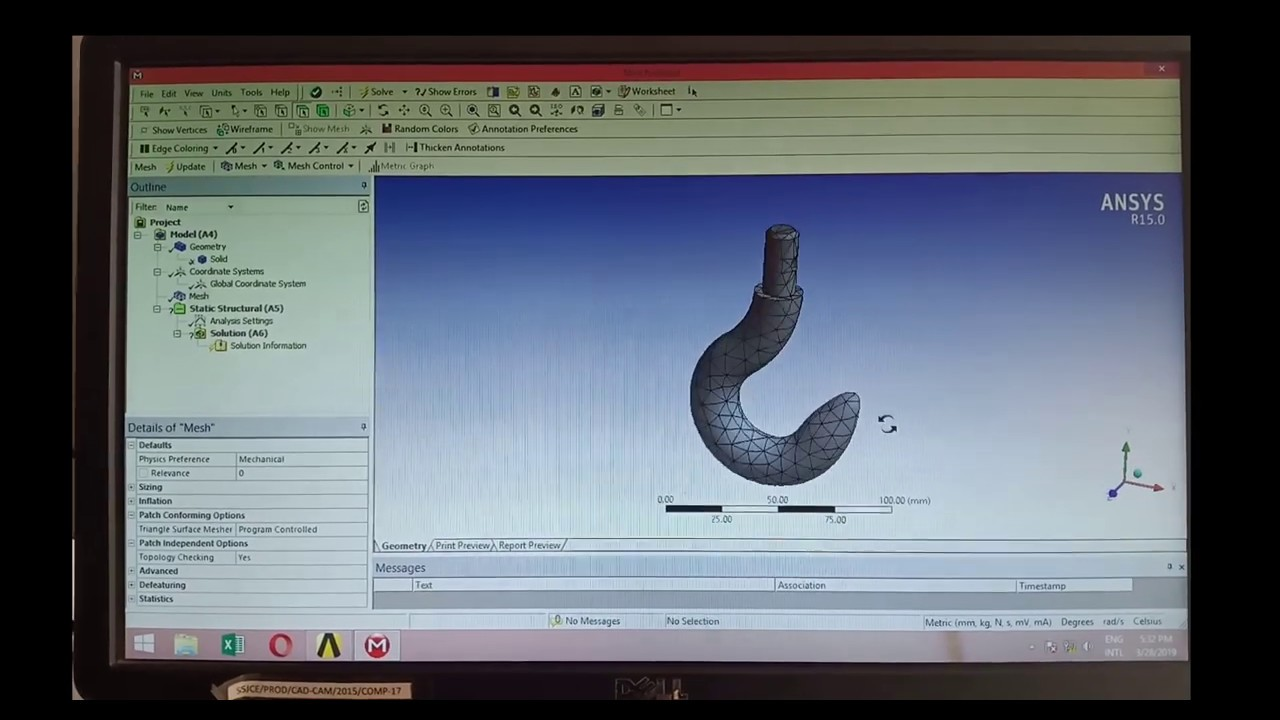 static structural analysis ansys workbench tutorial