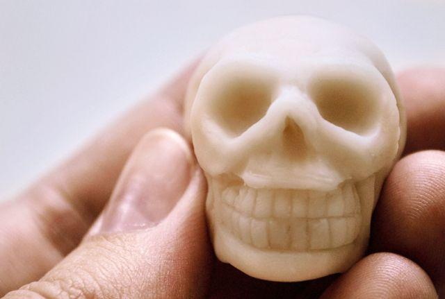 polymer clay skull tutorial
