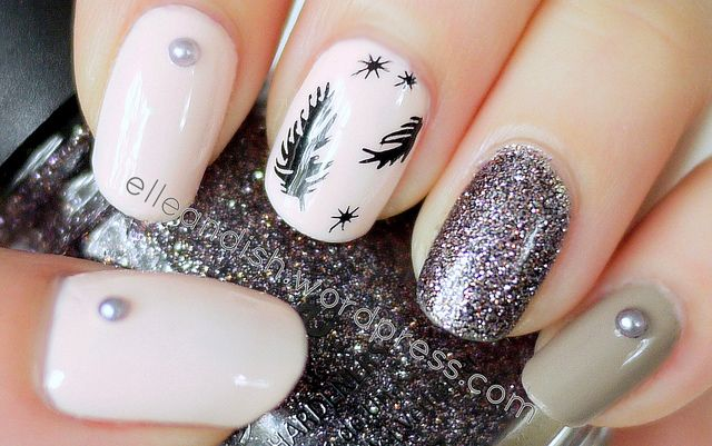 feather nail art tutorial