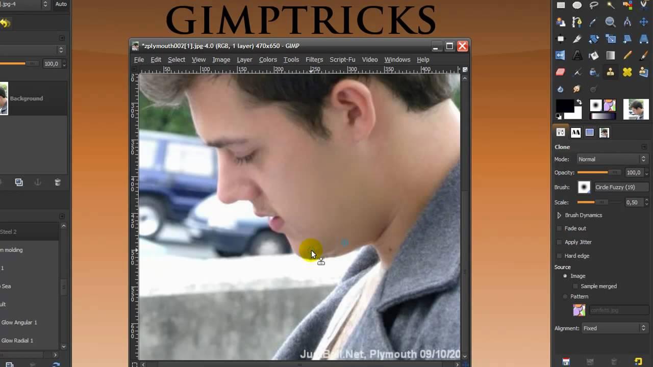 gimp 2 clone tool tutorial