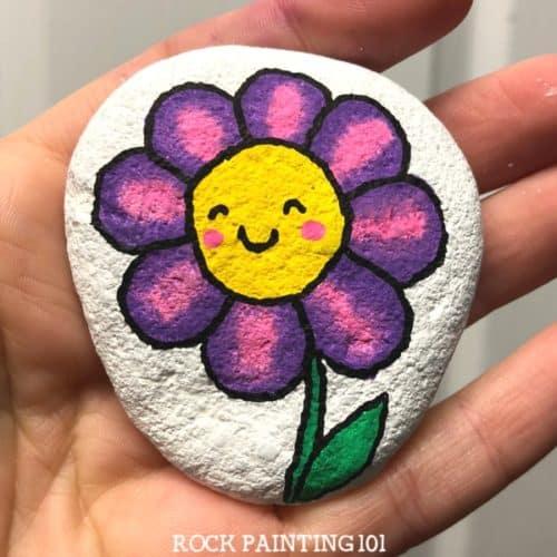 flower face paint tutorial