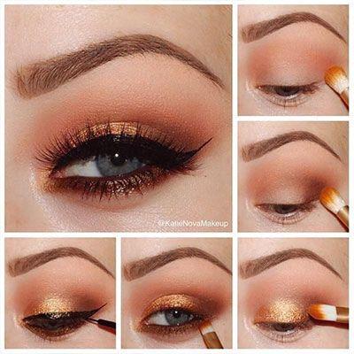 formal makeup tutorial for blue eyes