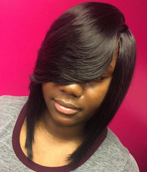 full sew in with bangs tutorial