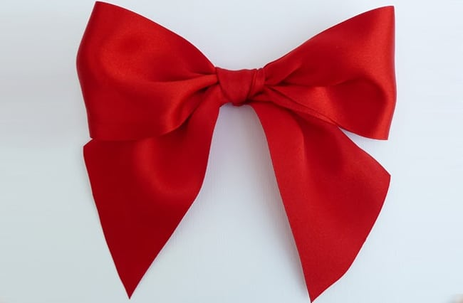 gift ribbon bow tutorial