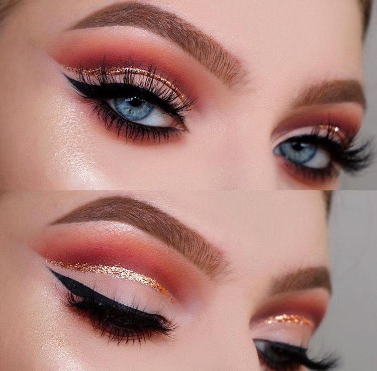 gold glitter eye makeup tutorial