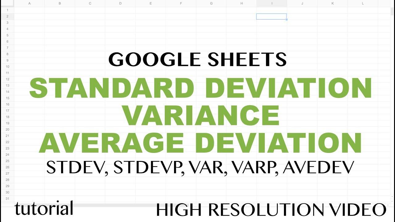google sheets functions tutorial