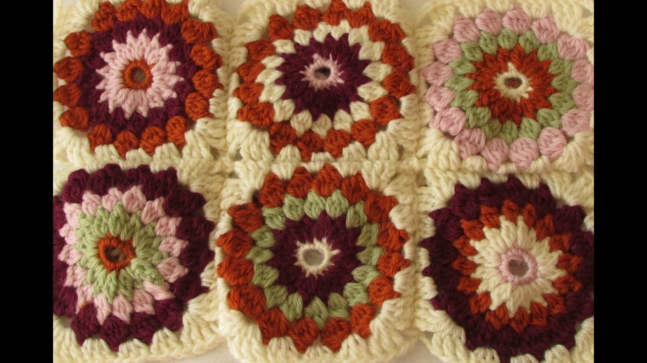 granny square crochet blanket tutorial