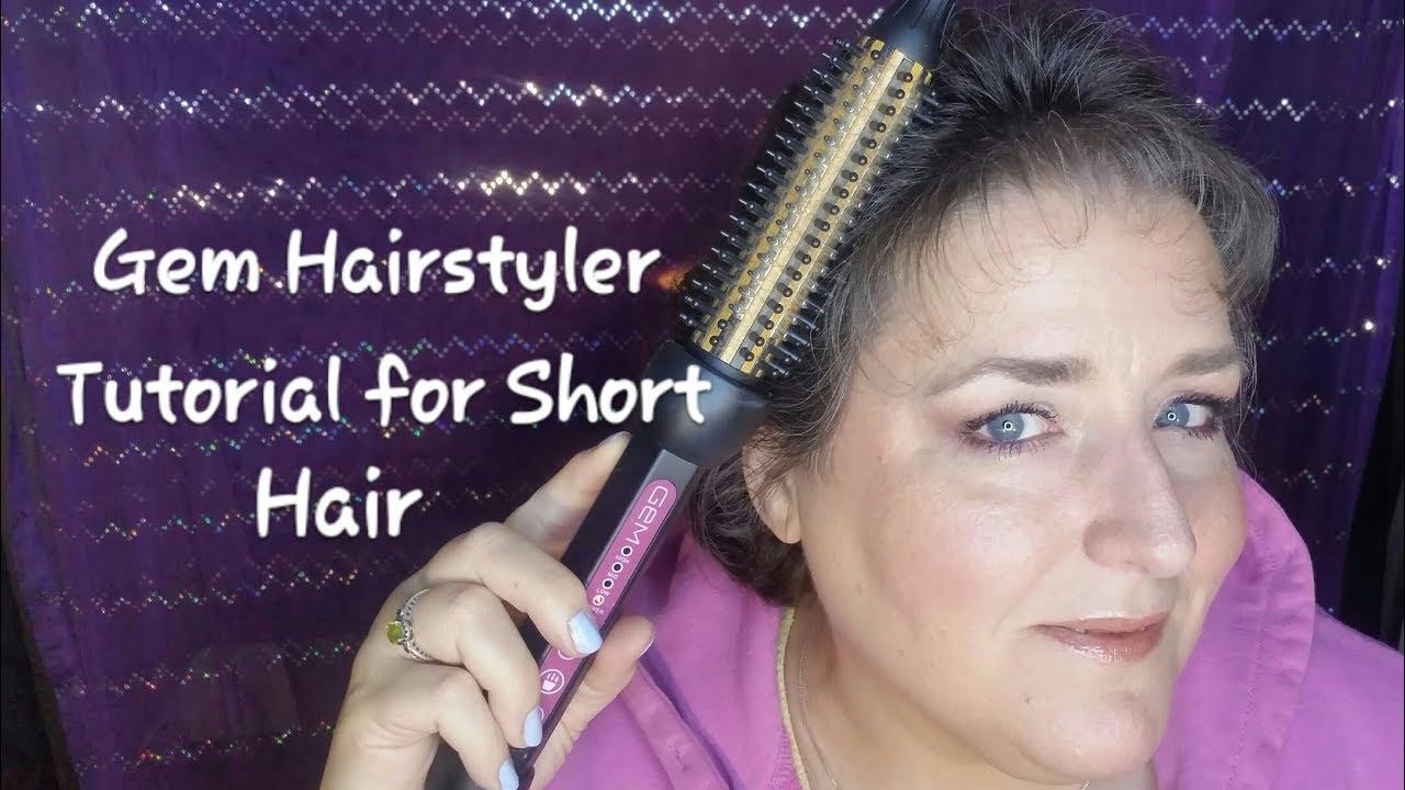 hair curling tutorial for short hair