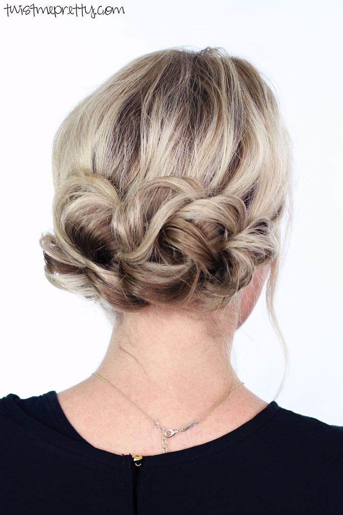 hair twist updo tutorial