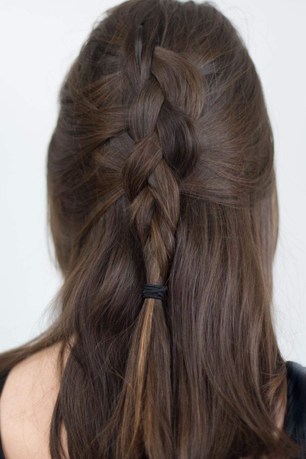 half up braid tutorial