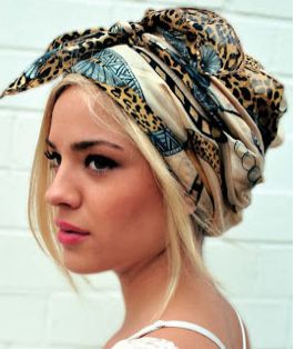 head wrap tutorial for short hair