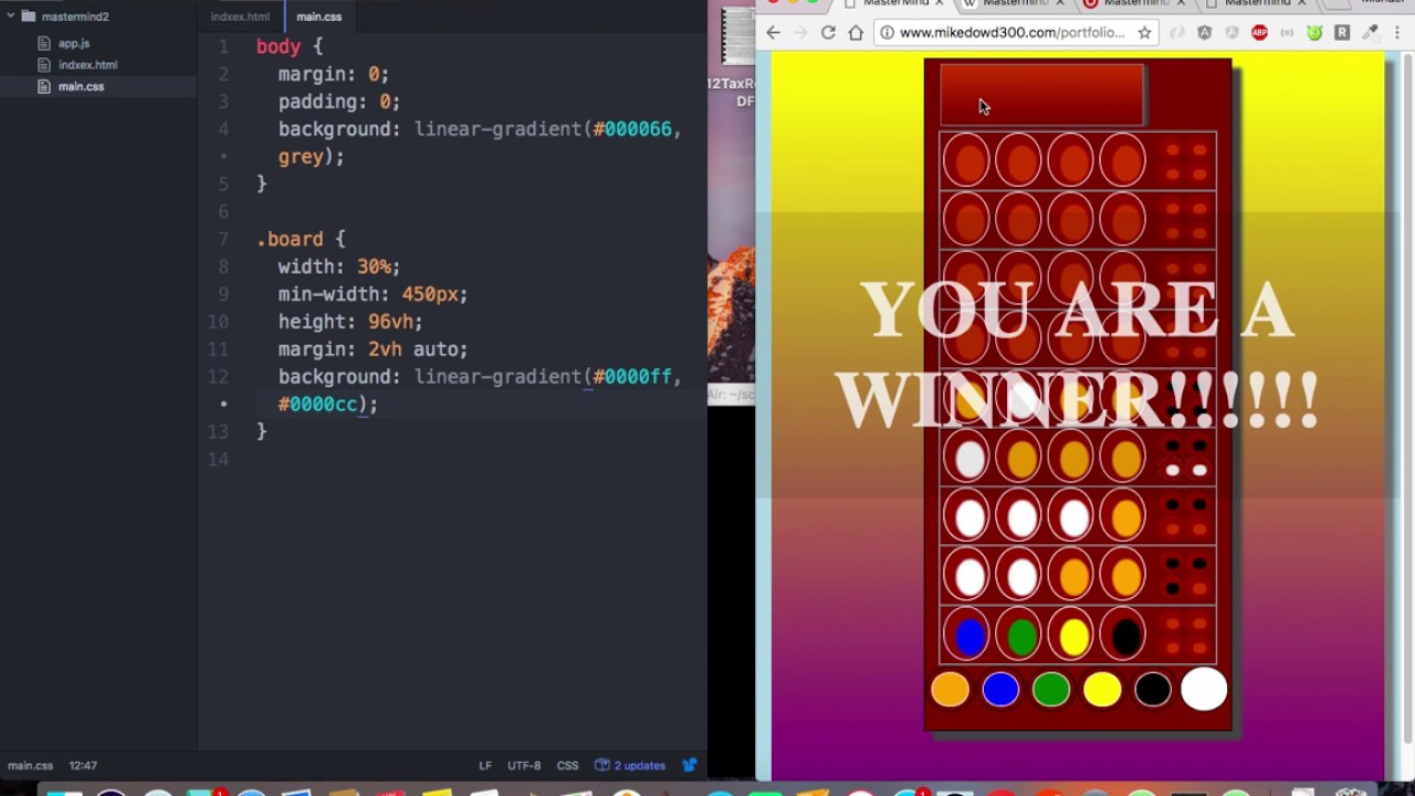html css game tutorial