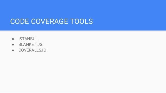istanbul code coverage tutorial