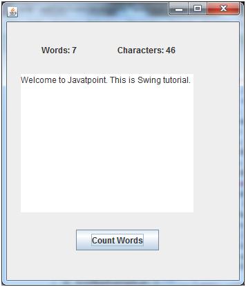 java swing tutorial point