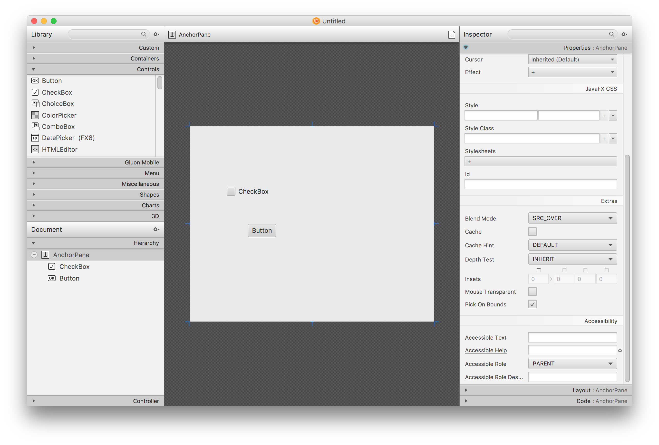 javafx tutorial scene builder