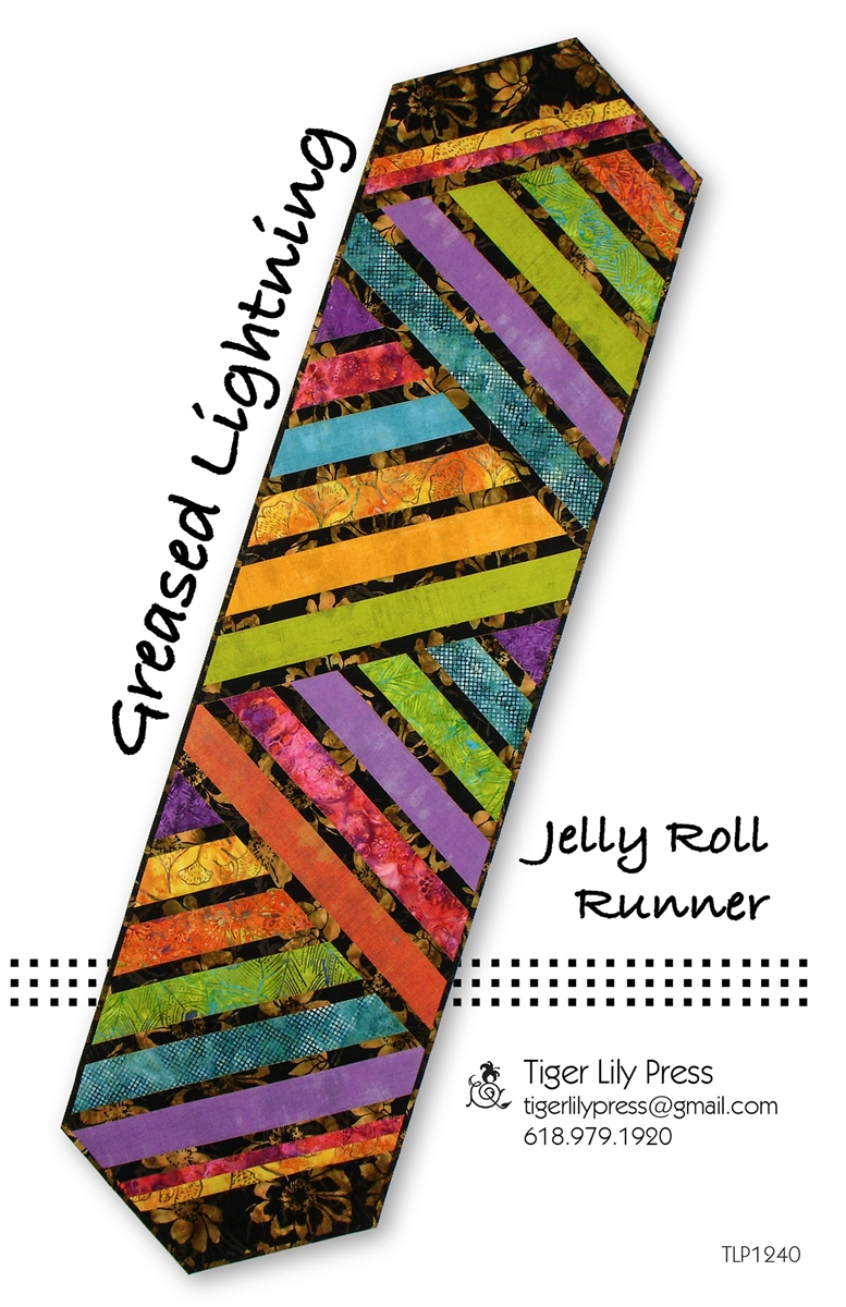 jelly roll table runner tutorial
