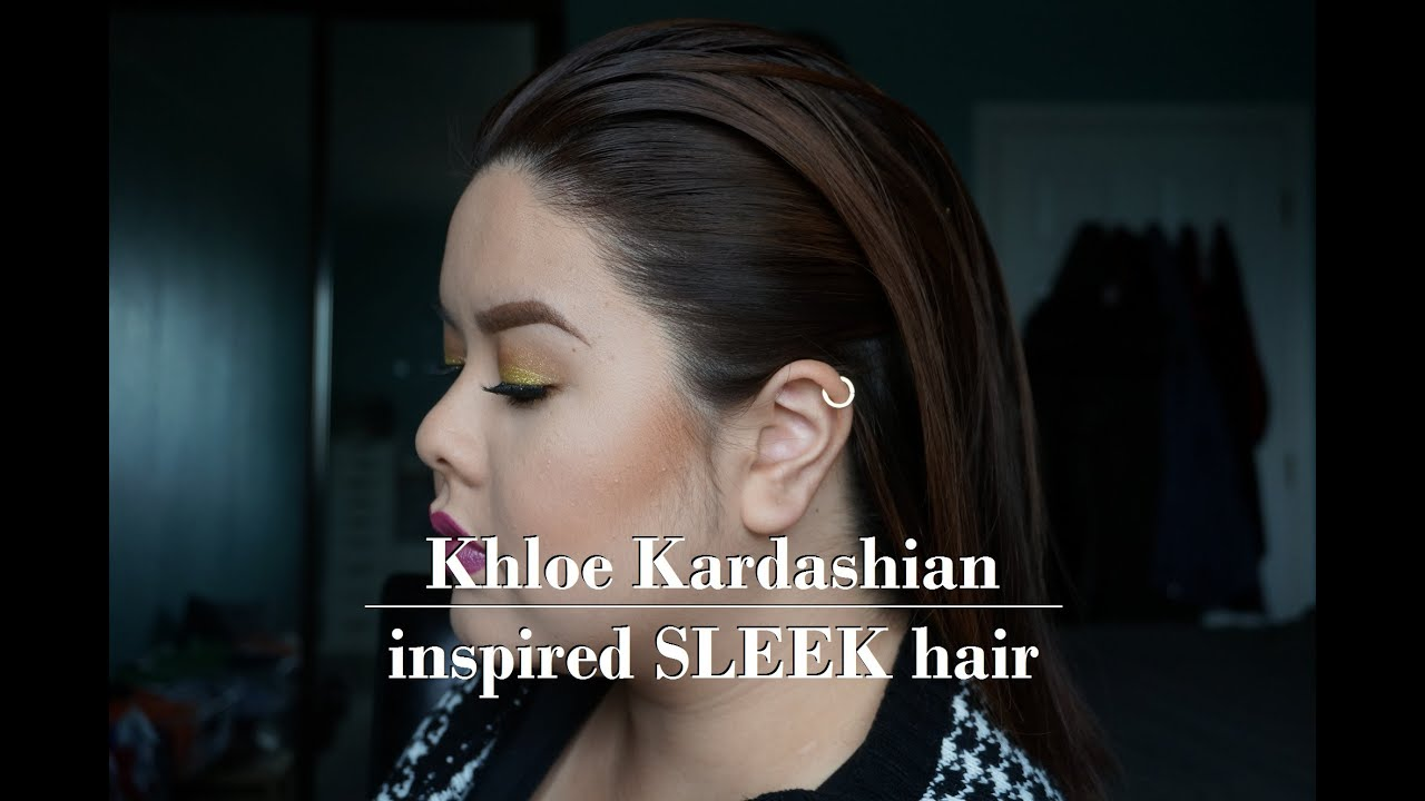 khloe kardashian hair tutorial