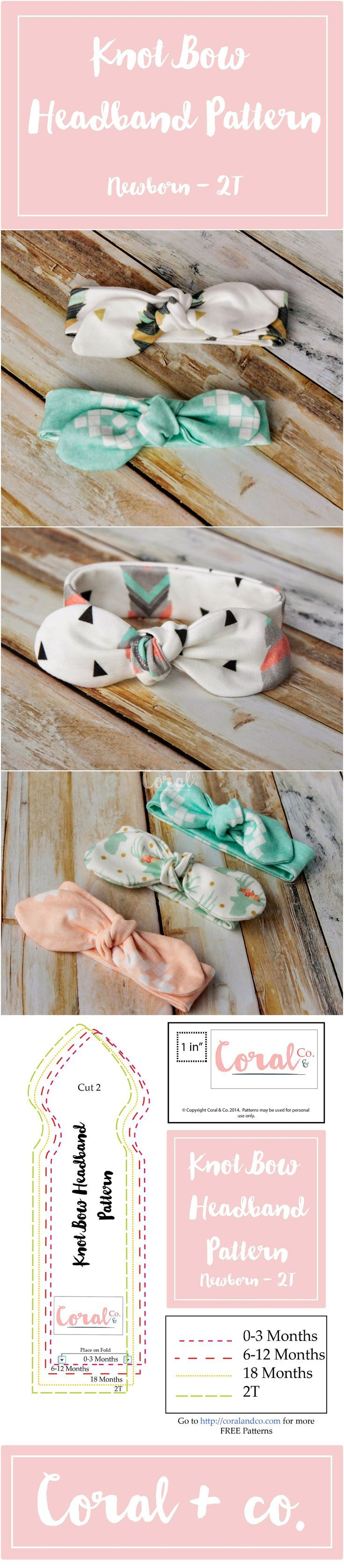 knot bow headband tutorial