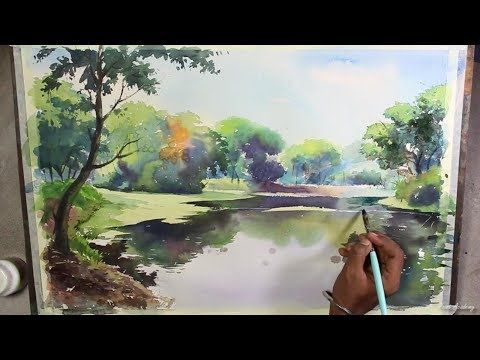 landscape painting tutorial for beginners