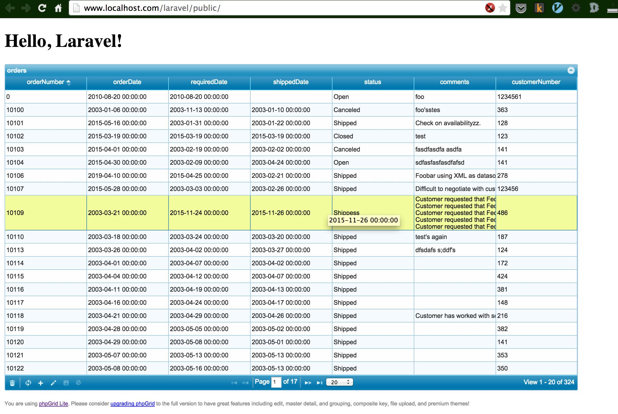 laravel 5 datatables tutorial