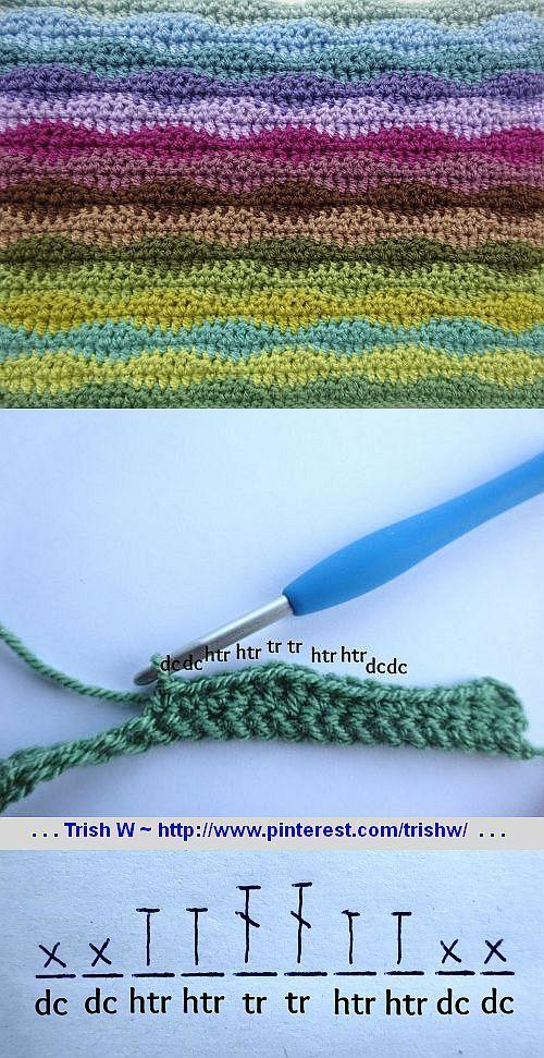 lazy wave crochet tutorial