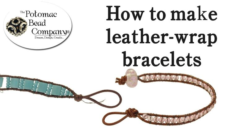 leather and bead bracelet tutorial