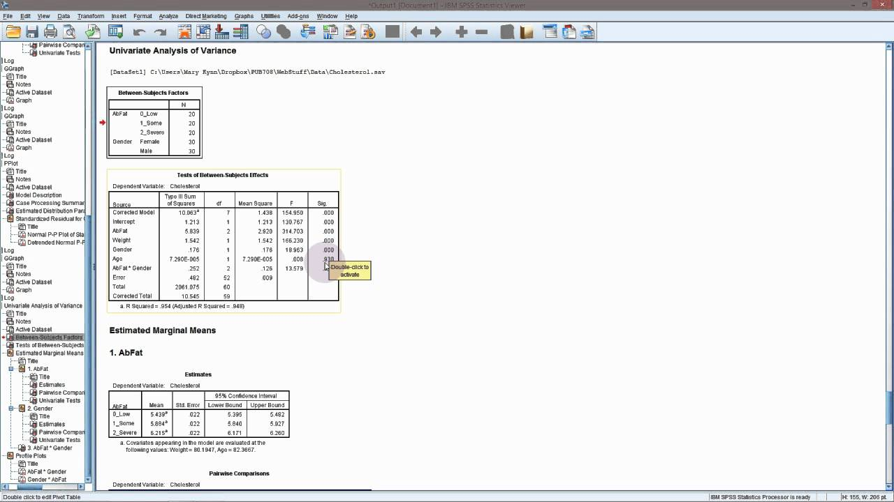 linear mixed model spss tutorial