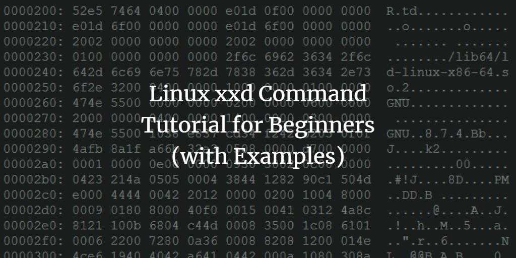 linux commands tutorial with examples