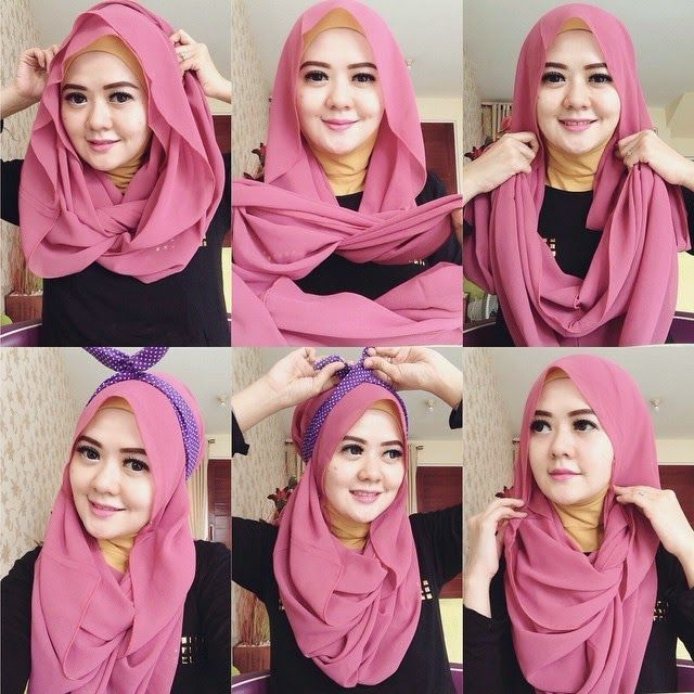 loose wrap hijab tutorial