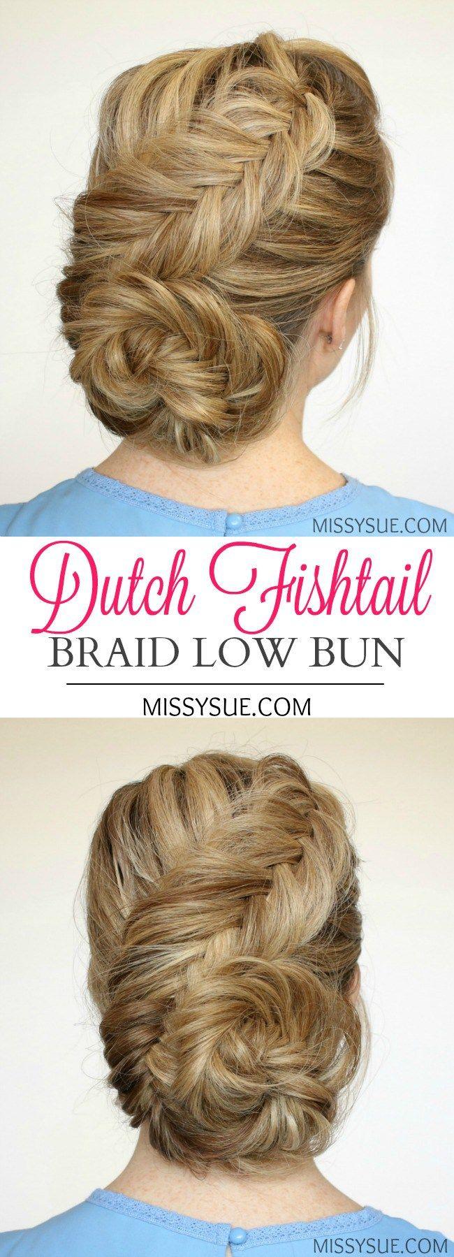 low bun hairstyles tutorial