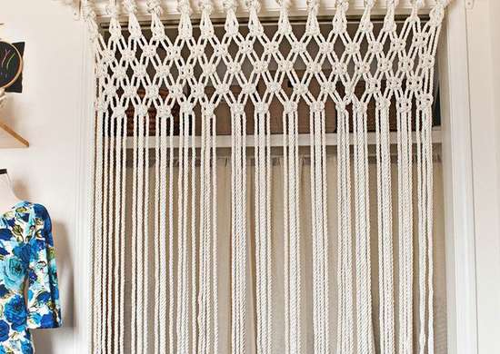 macrame door curtain tutorial